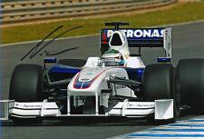 Nick Heidfeld Signed 8X12 inches BMW Sauber F1 2009 Photo