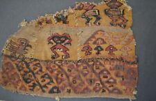 Pre columbian Art Fine Chancay Ancient Textile Fragment circa 1100 -1400 AD Peru