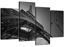 Parigi Torre Eiffel Nero Bianco Tela Foto ARTE Set Grande XL 4016