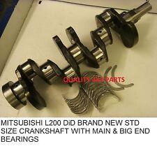 Mitsubishi L200 Motor 4d 56 2.5did 06 + CIGÜEÑAL Con Rodamientos Std NUEVO