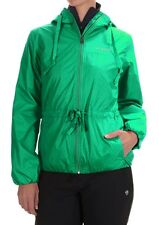 COLUMBIA Aurora's Wake II Omni-Shield Rain Jacket Woman L Dk Lime Flower Emboss
