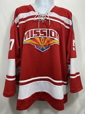 K1 Mission Ice Hockey Jersey Men's Size XL Red White Lace Up 97 CSDHL Patch