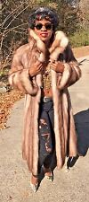Full length designer Genuine Stone Marten Sable Fur coat Jacket stroller S 0-8