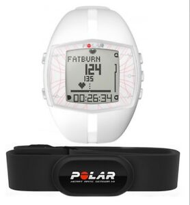 POLAR FT40 Ladies HEART RATE MONITOR WATCH with Chest Strap (White) FT40F NEW