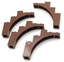 4x Lego Bricks Reddish Brown Arch 1 x 5 x 4 Tree Branch