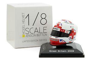 Spark 1/8 Scale Jenson Button Brawn 2009 British Grand Prix F1 Helmet