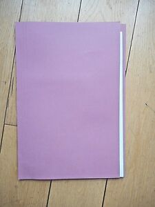 10 x Lightweight Square cut Foolscap Folders 180gsm -  35x24.2cm - PINK