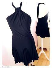 ✨LIPSY Black Skater Halterneck Mini Swish Dress Size S/M UK 8 10 EU 36 38 US 4 6