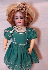 "21"" Antique Doll - Simon Halbig - Blue Eyes - Blond Mohair Wig"