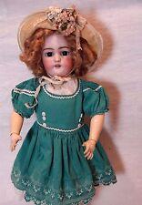 "21"" Antique Doll - Simon Halbig - Blue Eyes - Blond Mohair Wig"