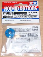 Tamiya 54722 TA07 Aluminum Center Pulley (18T) (TA-07/TA07 Pro), NIP