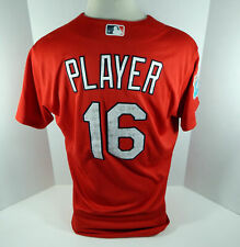 2016 St. Louis Cardinals Player #16 Game Issued Red Jersey ST JC059589