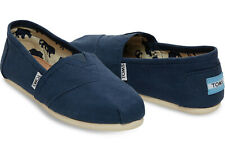 Toms Classic Navy Mens Canvas Slip On Shoes Size 8.5