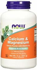 NOW Calcium-Magnesium  Citrate Powder with vitamin D 3, 8-Ounce