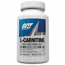 GAT L-CARNITINE FREE FORM AMINO ACID CONVERT FOOD TO ENERGY FAT LOSS 60 CAPSULES