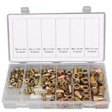 150 tlg Nietmuttern Blindnietmuttern Einnietmuttern Sortiment Set M3 - M10