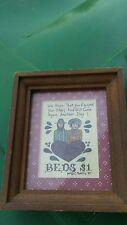 Vintage Me & Thee Inn plaque by C. Rohling 1987 Framed