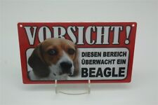 BEAGLE - Tierwarnschild - VORSICHT  Warnschild 20x12 cm Schild 4
