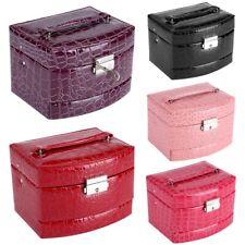 3 Schichten Schmuckkasten Case Schmuckkästchen Kosmetikkoffer Aufbewahrungsbox