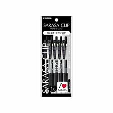 Zebra gel ballpoint pen Sarasa clip 1.0 black five P-JJE15-BK5 from Japan