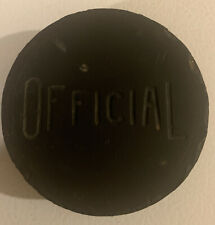 Vintage Official Rubber Hockey Puck Made In Canada Used NHL Equipment