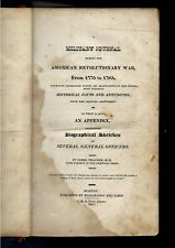 1823 Military Journal of American Revoultionary War w/Bio of Officers by Thacher