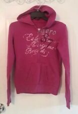 women's Aeropostale zip up hoodie size Extra Small, Red-Violet -322