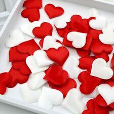 100Pcs Heart Wedding Decorations Petals Satin Heart Shaped Wedding Decor
