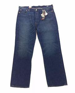 NEW Levi's 514 Straight Made USA White Oak Dark Blue Denim Jeans Mens Size 42x32