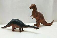 "Vintage Dinosaurs Action Figure Lot Large 16"" and 12"" Apatosaurus Allosaurus"
