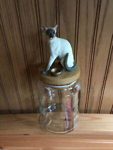 SIAMESE CAT TREAT / TRINKET / STORAGE JAR