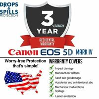 3 Year Warranty + Accidental Damage for Canon 5D Mark IV DSLR Camera Body