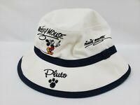 Disney World Bucket Hat Goofy Mickey Minnie Pluto Donald Duck White One Size