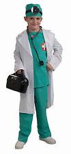 Kids Doctor Chief Surgeon Scrubs & Lab Coat Costume Child Size Medium 8-10