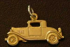 LOOK Ford Model A Car Replica Pendant Sterling Silver Charm 24kt Gold Plated Jew