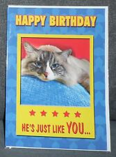 "BN - BIRTHDAY CARD - ADULT HUMOUR - ""HE'S JUST LIKE YOU..."" - STYLE 2"