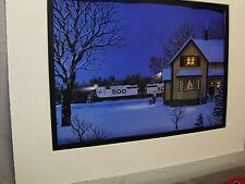 Soo Line Diesel Winter Scene Artist Illustrated  Color Railroad Archives Hw
