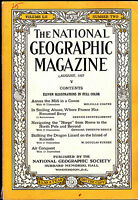 National Geographic August 1927  Alsace France Komodo Lizard  FREE US S/H