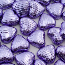 500g Bag Approx 100 LILAC Chocolate Foiled Hearts Luxury Wedding Favours