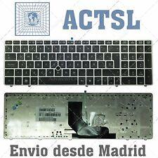 HP Compaq Probook 6560b 6560p 8560p 8570p QWERTZ Teclado De Plateado Marco