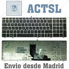 Teclado HP Compaq Probook 6560b 6560p / Elitebook 8560p 8570p Marco Plateado SP