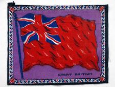 Great Britain Antique Cigarette Tobacco Vintage Flannel Felt World Flag / Quilt
