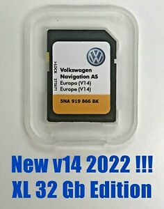 Tarjeta SD VW Discovery Media 2 · Mapas v14 Europa 2022 · Edición XL 32 Gb
