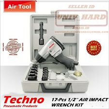 "HEAVY DUTY AIR IMPACT WRENCH 1/2"" WITH COMPLETE KIT"