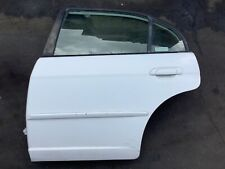 01-05 Civic 4Dr Left Driver Side Rear Vehicle Door Panel Car Entrance Lid White