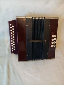 Knopfakkordeon  Stahltöne  , Handharmonika,  Akkordeon,  Stahltöne