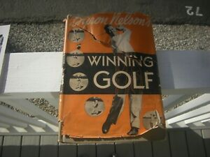"""1946 Byron Nelson autographed book: """"Winning Golf"""""""