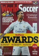 World Soccer UK Winter 2016 Cristiano Ronaldo Player of Year FREE SHIPPING sb