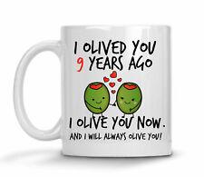 9th Wedding Anniversary Gift For Him Personalized Anniversary Mug 9th