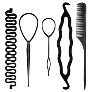 Hair French Braid Topsy Tail Clip Styling Stick DIY Bun Maker Tool US Seller